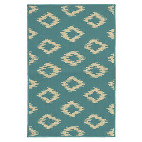 Picture of Turquoise Diamonds Utility Rug 29 X 45-in