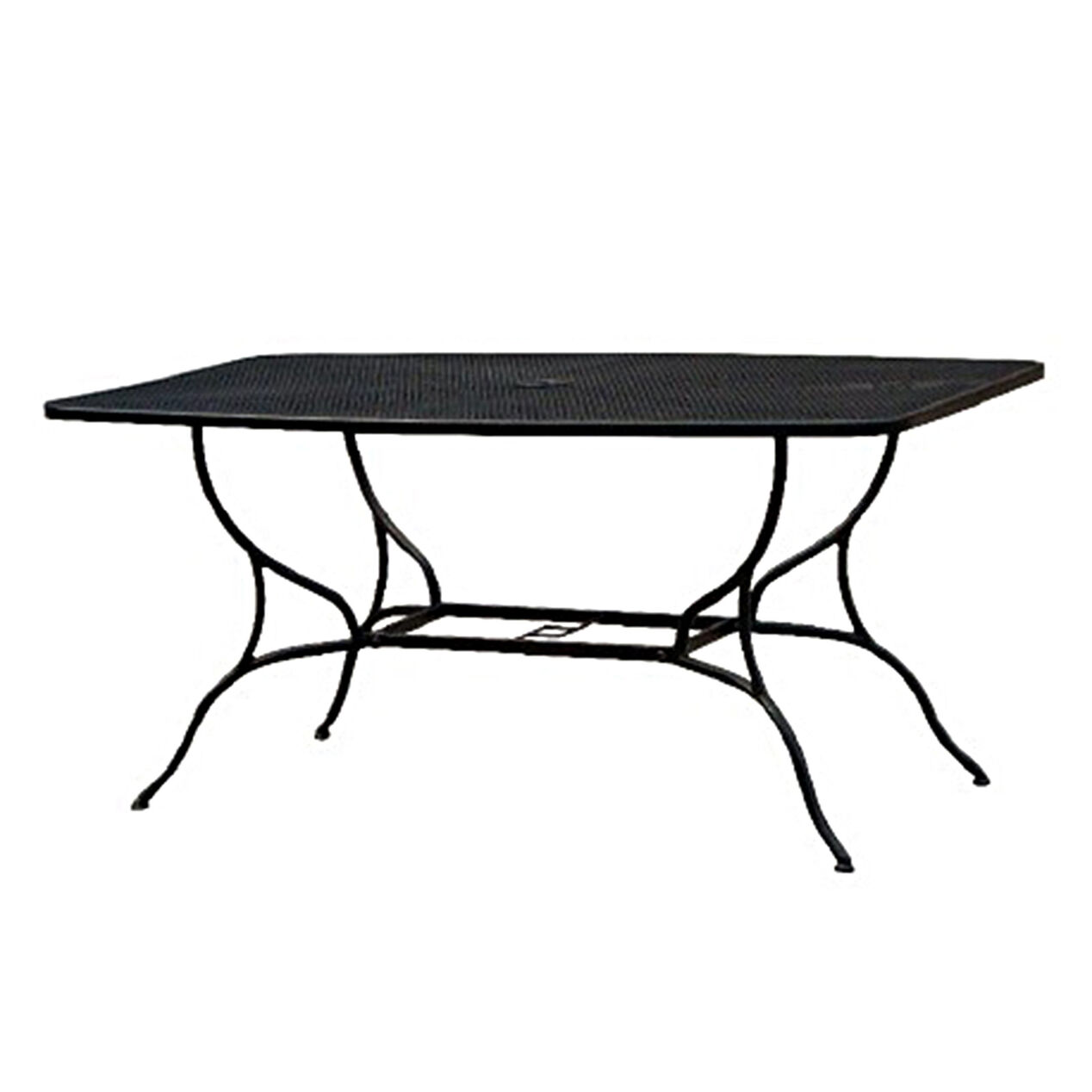 black wrought iron patio outdoor table 38 x 60 black wrought iron table