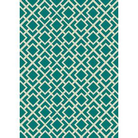 Picture of D199 Teal and Ivory Modena Rug