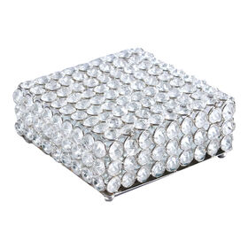 Picture of Silver Crystal Square Box 6.5 x 5.5-in
