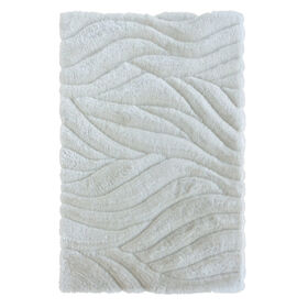 Picture of A233 White Carved Shag Rug