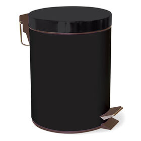 Picture of 5 L Step-On Metal Trash Bin - Black