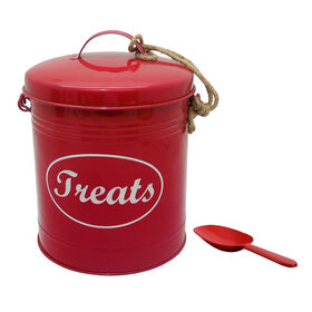 Picture of Red Treat Tin with Scoop