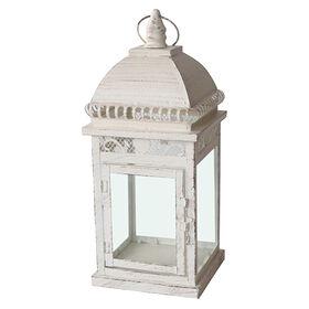 Picture of Cream Square Lantern - 6.7 X 15.75 in.