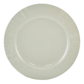 Picture of Yellow and Gray Melamine Dinner Plate - Light Gray