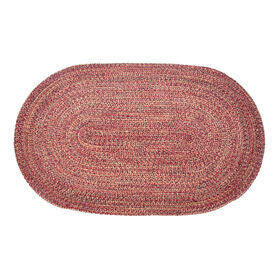 Picture of Wine Braided Oval Accent Rug- 27x45 in.