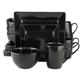 Picture of 16 PC SQ DINNERWARE SET BLACK
