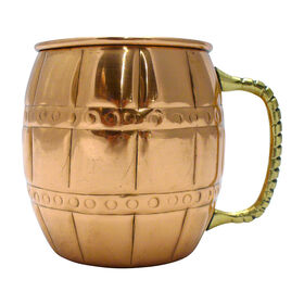 Picture of Copper Barrel Mug with Brass Handle