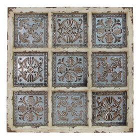 Picture of 30 X 30-in Distressed White Ceiling Décor