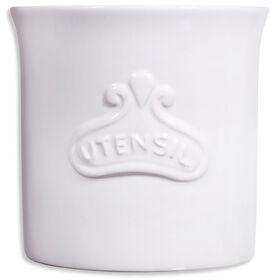 Picture of Utensil Plaque Crock, White