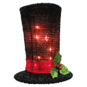 Picture of 8.5-in Tinsel Top-Hat Tree Topper