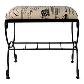 Picture of Mozart Vanity Bench, Black Script