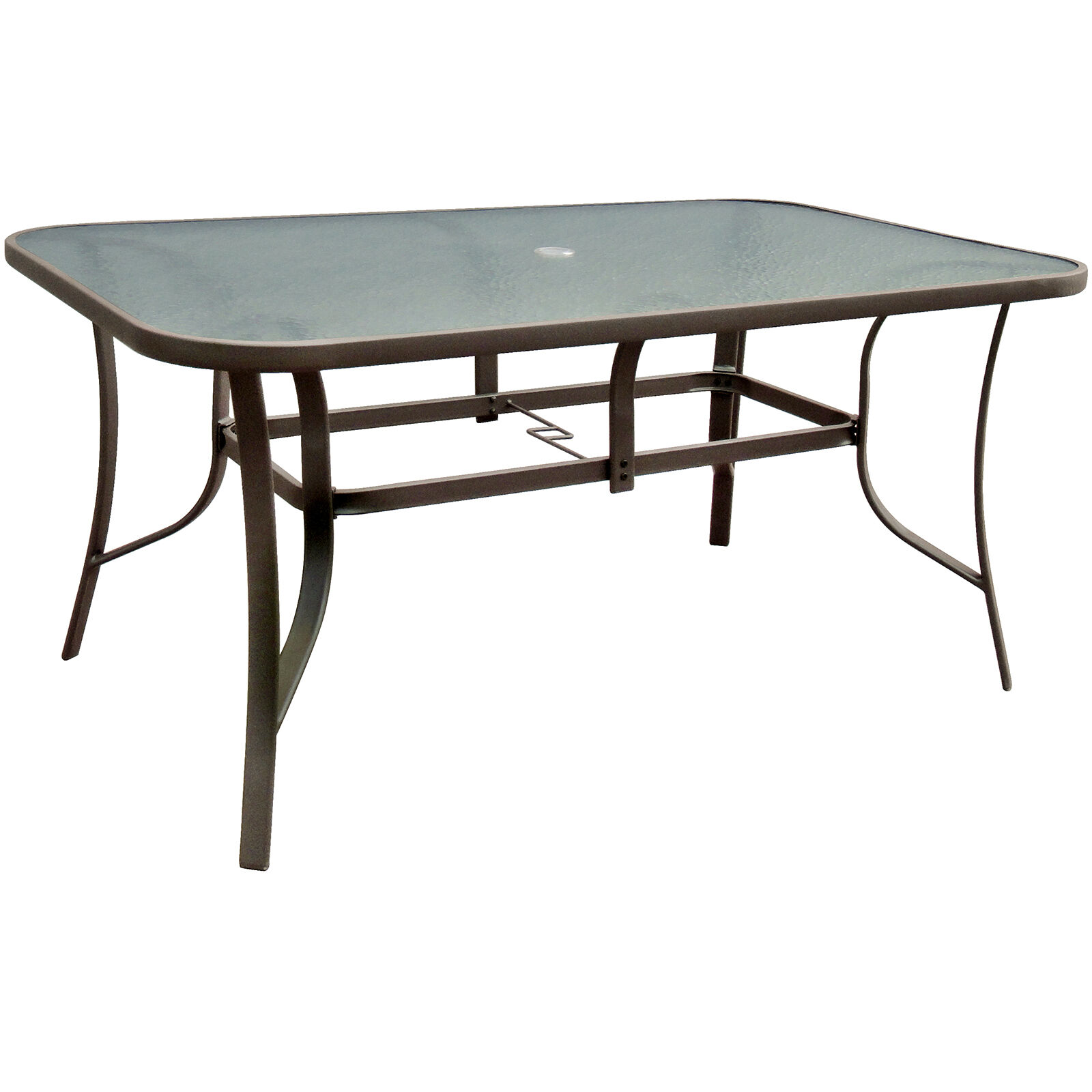 Brown Steel Patio Table   38 X 60 ...