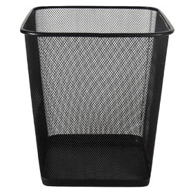 Picture of MTL MESH SQ WASTE CAN-BLK