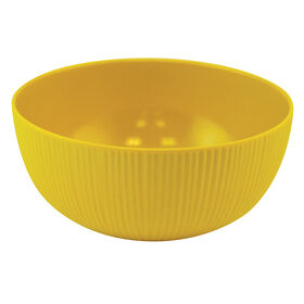 Picture of Yellow and Gray Melamine Rice Bowl - Mustard