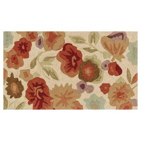 Picture of Zoe Cream Floral Rug 3 X 5 ft