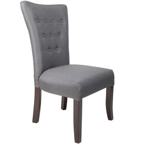 Picture of Dk Grey 9 button Parson Chair