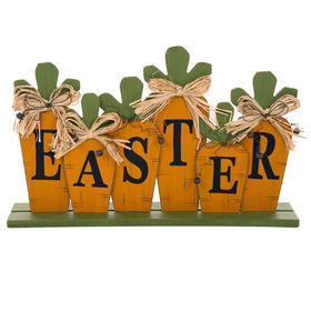 Picture of Easter Carrot Wood Table Sign- 18 in.