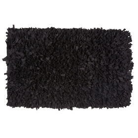 Picture of Black Paper Shag Accent Rug- 20x34 in.