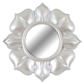 Picture of 14-in. Puff Flower Frost White Mirror