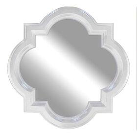 Picture of 18 X 18-in White Gloss Quatrefoil Mirror