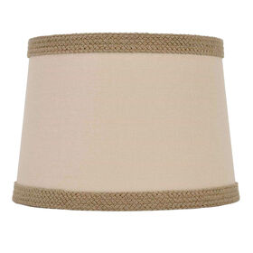 Picture of Brown with Braid Trim Top Lamp Shade 7X10X8-in