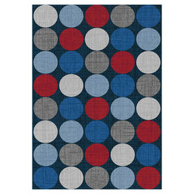 Picture of D194 Navy and Red Gumdrop Rug