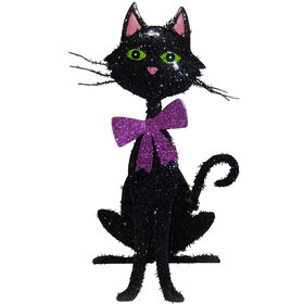 Picture of Black Tinsel Glitter Cat