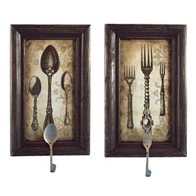 Picture of 8 X 16-in Homespun Spoon and Fork Hook