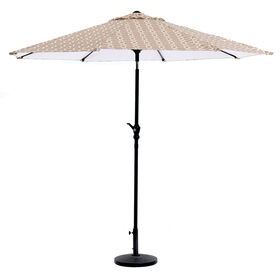 Picture of Crank Tilt Rhodes Tan Umbrella- 9-ft
