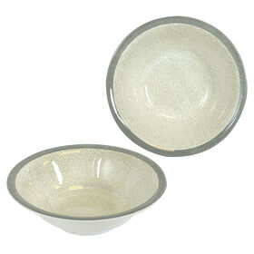 Picture of 7.5  SOUP BOWL GLAM DMSK 2 CRM