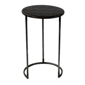 Picture of Nested Round Metal ZigZag Table - Small
