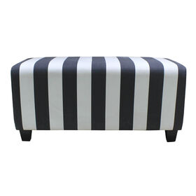 Picture of Scarlett Black and White Ottoman 36X18