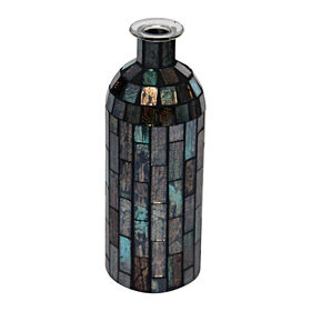 Picture of Mosaic Blue Bottle- 4 x 10.5-in