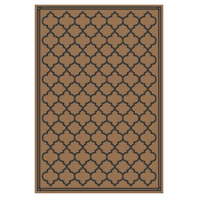 Brown and Black Garden Gate Rug 3 X 5 ft