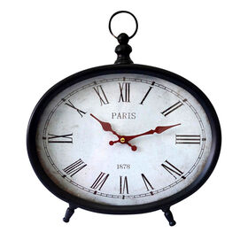 Picture of Metal Paris Clock with Red Hands - 12.2 X 14.3