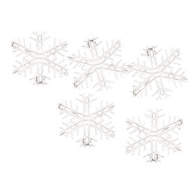 Picture of 10 Piece Lit Shimmering Snowflake Set