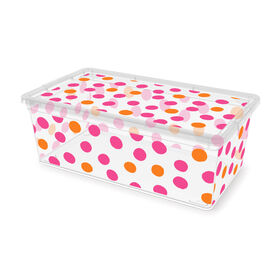 Picture of Bin with Pink Dots - 6.1 Quarts