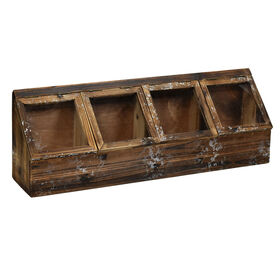 Picture of 29IN WOOD 4 CUBBY PLANTER