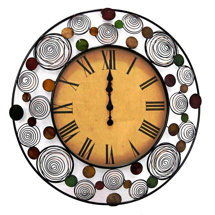 30-in Round Springs Dot Clock