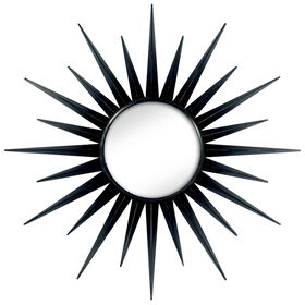 Picture of 17-in Black Gloss Starburst Mirror