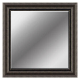 Picture of 25 X 25-in Silver & Bronze Beaded Beveled Mirror