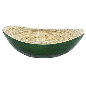 Picture of Green Bamboo Oval Bowl - 7.5 in. Small