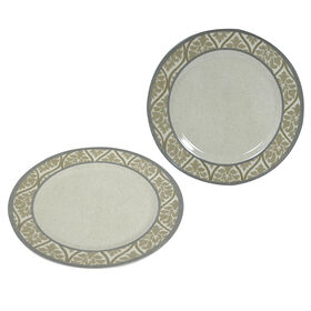 Picture of 11  RND PLATE GLAM DMSK CREAM