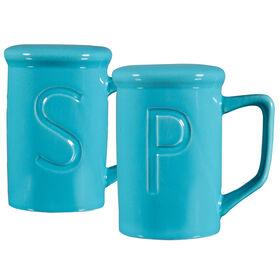 Picture of Namesake Salt and Pepper Shaker Set - Aqua