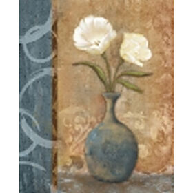 Picture of 24 X 36-in Slate Floral Studio Art