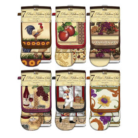 Picture of 7 Piece Kitchen Set- 10 Assortment Prints