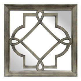 Picture of 16 X 16-in Driftwood Lattice Mirror