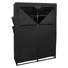 Picture of Wardrobe Closet with Shelves - Black, 44-in.