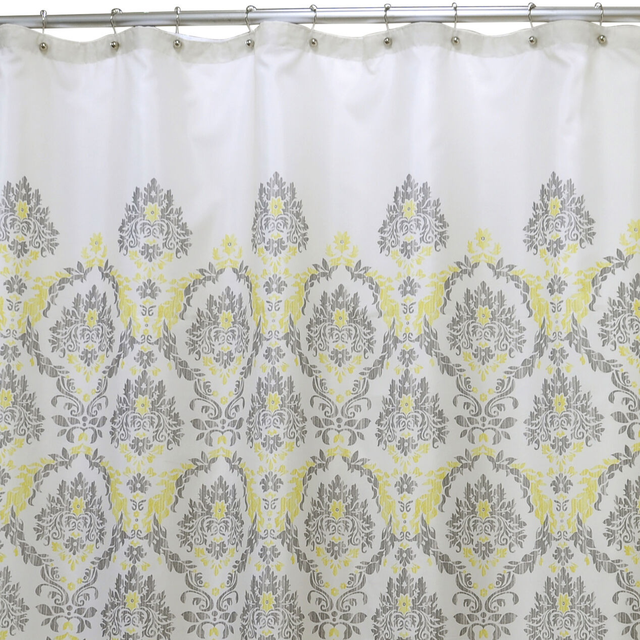 Yellow and blue shower curtain - Gray And Yellow In A Daze Shower Curtain Gray And Yellow In